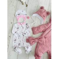 Комплект на выписку для новорождённых Любимка розовый