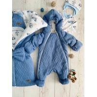 Комплект на выписку для новорождённых Любимка синий