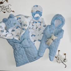 Зимний комплект для новорождённого Мамина крошка