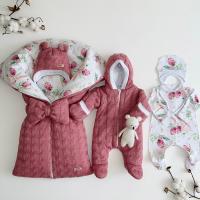 Зимний комплект для новорождённого Мамина крошка для девочки
