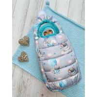 Зимний конверт для новорождённого Пушинка мышки
