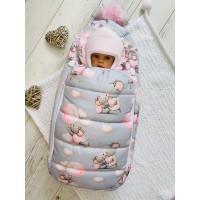 Зимний конверт для новорождённой Пушинка мышки