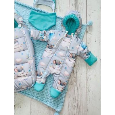 Зимний комплект для новорождённого Пушинка мышки