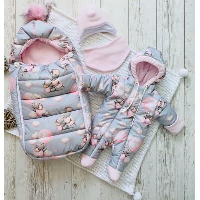 Зимний комплект для новорождённой Пушинка мышки
