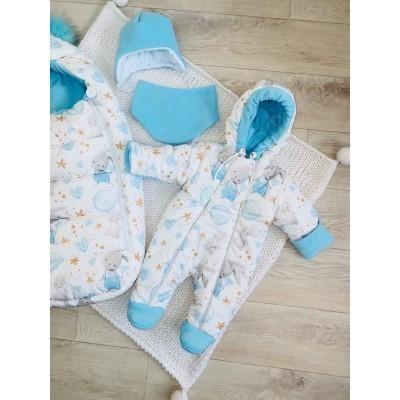Зимний комплект для новорождённого Пушинка зайки
