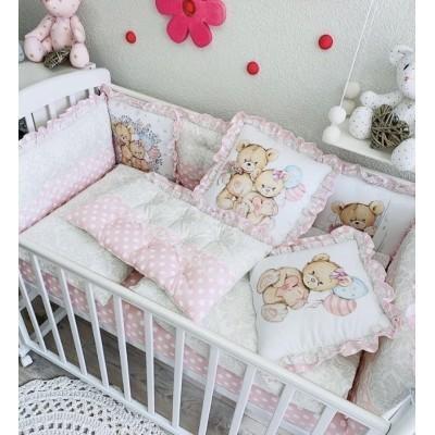 Комплект в кроватку для девочки Барокко