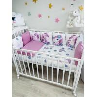 Комплект в детскую кроватку Единорони