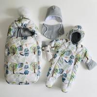 Зимний комплект для новорождённого Пушинка ТМ/663 ёжики