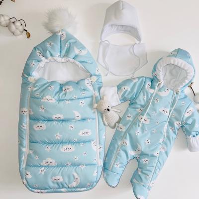 Зимний комплект для новорождённого мальчика Пушинка облака