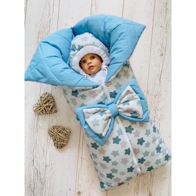 Зимний комплект для новорождённого Звезды