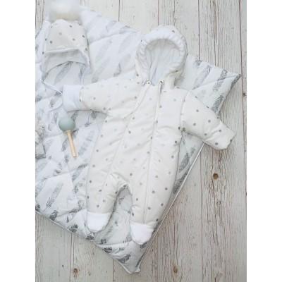 Зимний комплект для новорождённого Пёрышки