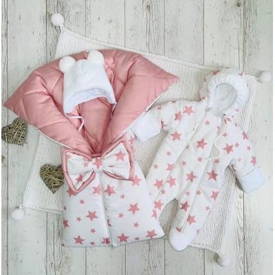Демисезонный комплект для новорождённой Звездочки