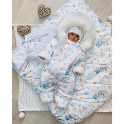 Зимний комплект для новорождённого Снежок