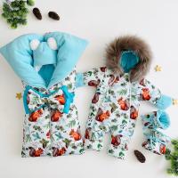 Комплект для новорождённого зимний Снежок
