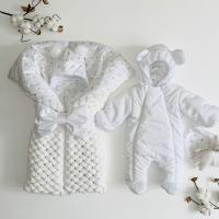 Утеплённый комплект для новорождённых Льдинка белый
