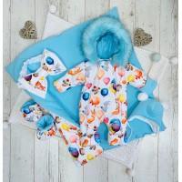 Зимний комплект для новорождённого Снежок лисички