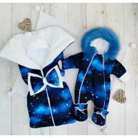 Зимний комплект для новорождённых Снежок Звезды