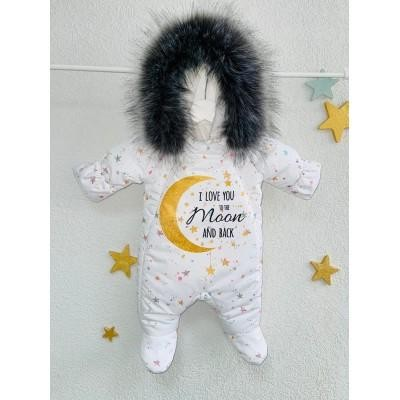Комбинезон для новорождённых Люблю тебя до луны и обратно