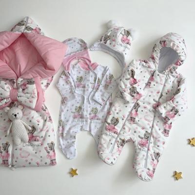 Демисезонный комплект на выписку для новорожденных Бусинка балеринка