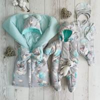 Комплект на выписку для новорождённых Бусинка мышки