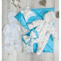 Комплект на выписку для новорождённых Бусинка зайки
