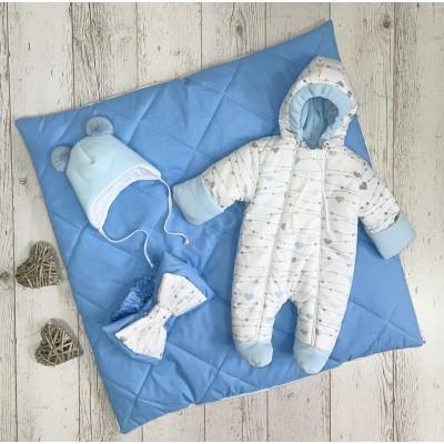 Демисезонный комплект для новорождённого Сердечки