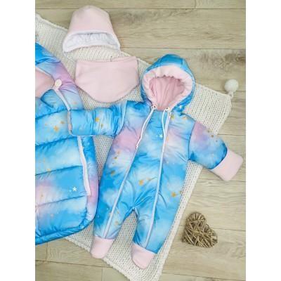 Зимний комплект для новорождённой Пушинка звёзды