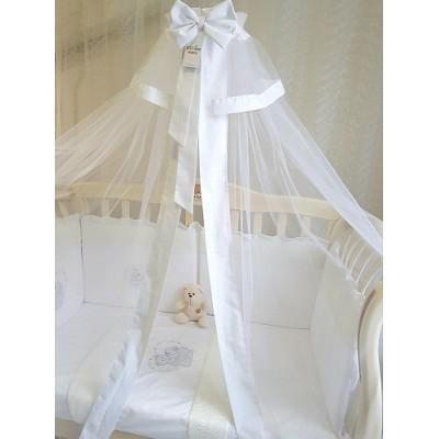 Балдахин для детской кроватки Арабелла белый