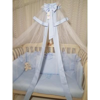 Балдахин для детской кроватки Арабелла голубой