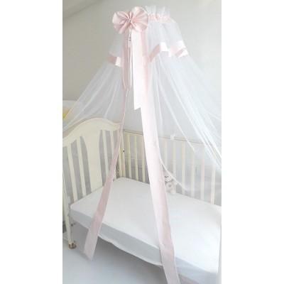 Балдахин для детской кроватки Арабелла розовый