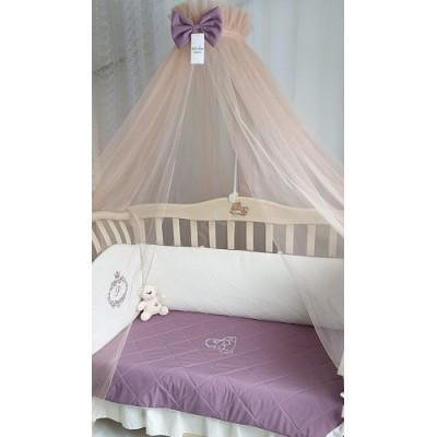 Балдахин для детской кроватки Версаль дымчатая роза