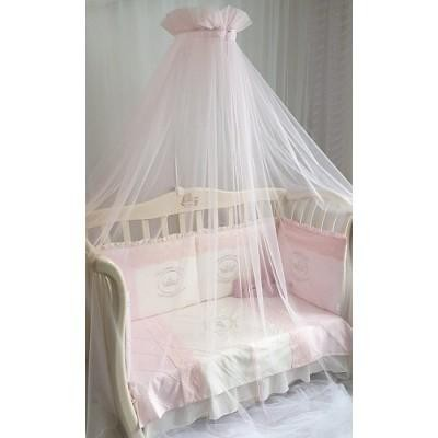 Балдахин для детской кроватки Версаль розовый