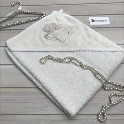 Махровое полотенце с уголком Мишка