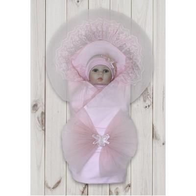 Комплект на выписку для девочки Флорентина розовый