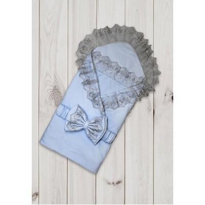 Комплект на выписку 6 предметов Валери голубой