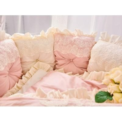 Комплект в кроватку  АНЖЕЛИКА молочно-розовый