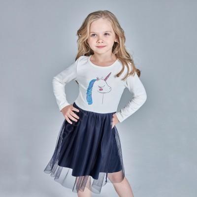 Платье для девочки Единорожек