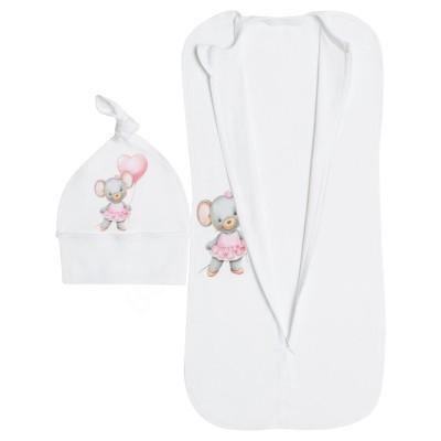 Кокон для новорождённых Мышонок с сердечком