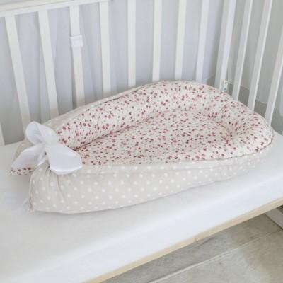 Кокон-гнездышко для новорождённых Цветы
