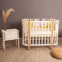 Детская кроватка-трансформер 5в1 Verona слоновая кость/бук