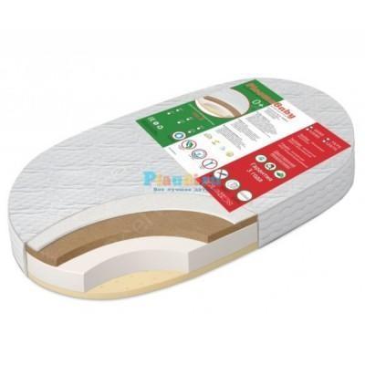 Овальный матрас в детскую кроватку 125 см Ploomababy Ova-3