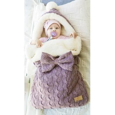Конверт меховой Ma Licorne Mouton violet