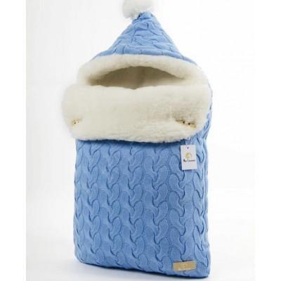 Конверт меховой Ma Licorne Mouton blue
