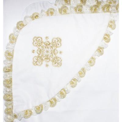 Крестильный набор Традиционный золото с платиной