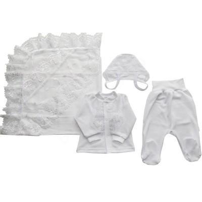 Комплект на выписку и крещение для мальчика 4 предмета Никки