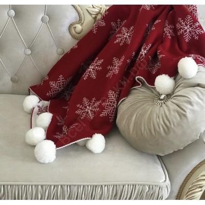 Детский плед Снежинка